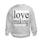 7001. making love Kids Sweatshirt