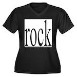 342. rock.. Women's Plus Size V-Neck Dark T-Shirt