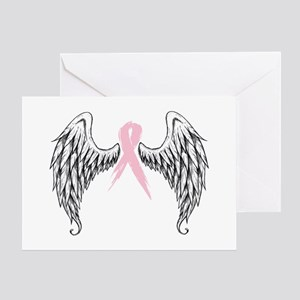 ribbon angel Greeting Cards