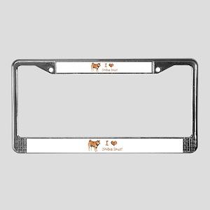 Helaine's Shiba Inu 2 License Plate Frame