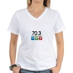 70.3 been there.. done that.. Women's V-Neck T-Shi