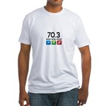 70.3 been there.. done that.. Fitted T-Shirt