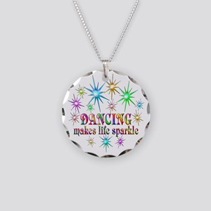 Dancing Sparkles Necklace Circle Charm