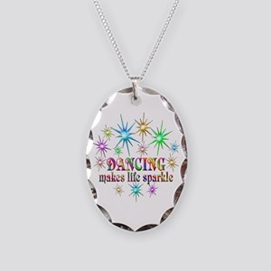 Dancing Sparkles Necklace Oval Charm