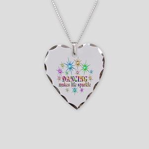 Dancing Sparkles Necklace Heart Charm