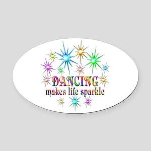 Dancing Sparkles Oval Car Magnet