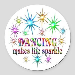 Dancing Sparkles Round Car Magnet