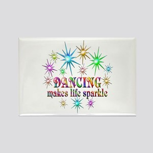 Dancing Sparkles Rectangle Magnet