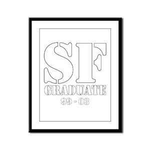White Framed Panel Print