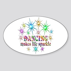 Dancing Sparkles Sticker (Oval)