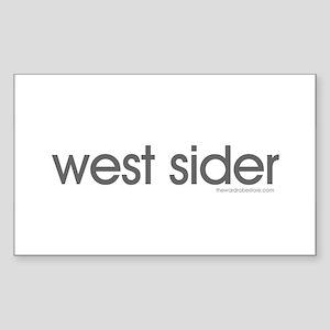 west sider Rectangle Sticker