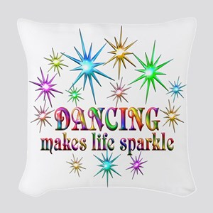 Dancing Sparkles Woven Throw Pillow