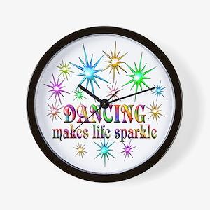 Dancing Sparkles Wall Clock