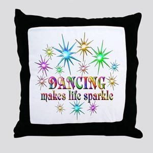 Dancing Sparkles Throw Pillow