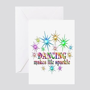 Dancing Sparkles Greeting Card