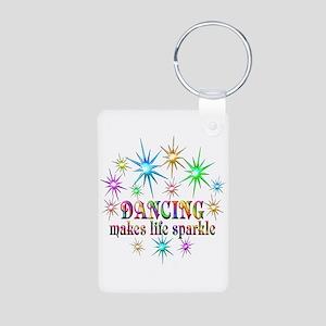Dancing Sparkles Aluminum Photo Keychain