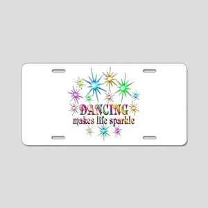 Dancing Sparkles Aluminum License Plate