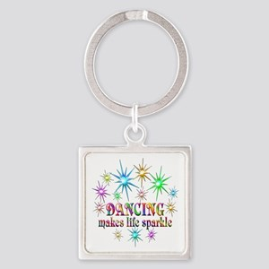 Dancing Sparkles Square Keychain