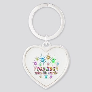 Dancing Sparkles Heart Keychain