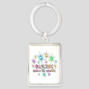 Dancing Sparkles Portrait Keychain