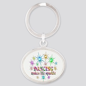 Dancing Sparkles Oval Keychain