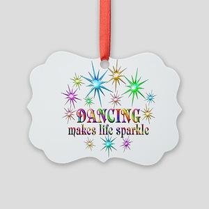 Dancing Sparkles Picture Ornament