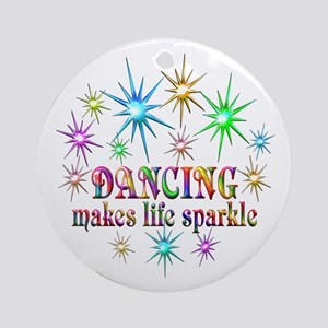 Dancing Sparkles Round Ornament