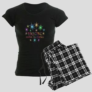 Dancing Sparkles Women's Dark Pajamas