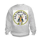 USS Finch (DER 328) Kids Sweatshirt