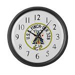 USS Finch (DER 328) Large Wall Clock