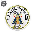 "USS Finch (DER 328) 3.5"" Button (10 pack)"