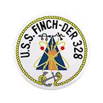 """USS Finch (DER 328) 3.5"""" Button"""