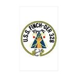 USS Finch (DER 328) Rectangle Sticker 50 pk)