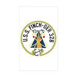 USS Finch (DER 328) Rectangle Sticker 10 pk)