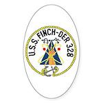 USS Finch (DER 328) Oval Sticker (50 pk)