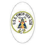 USS Finch (DER 328) Oval Sticker (10 pk)