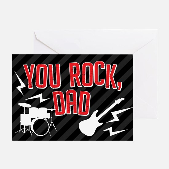You Rock Dad Greeting Card