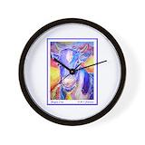 Purple cow Wall Clocks