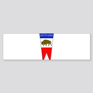 Buffalo Fork Settlers item Bumper Sticker