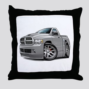 SRT10 Grey Truck Throw Pillow