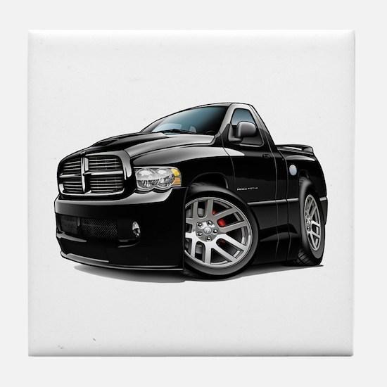SRT10 Black Truck Tile Coaster