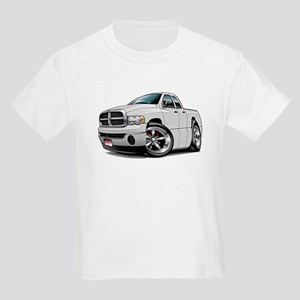 Dodge Ram White Dual Cab Kids Light T-Shirt