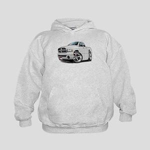 Dodge Ram White Dual Cab Kids Hoodie
