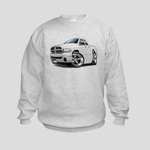 Dodge Ram White Dual Cab Kids Sweatshirt