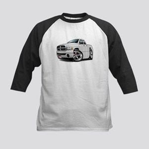 Dodge Ram White Dual Cab Kids Baseball Jersey