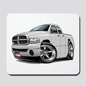 Dodge Ram White Dual Cab Mousepad