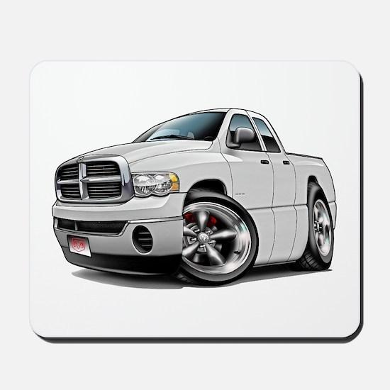 Dodge Ram White Dual Cab Mousepad