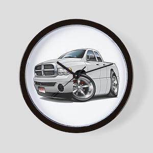 Dodge Ram White Dual Cab Wall Clock