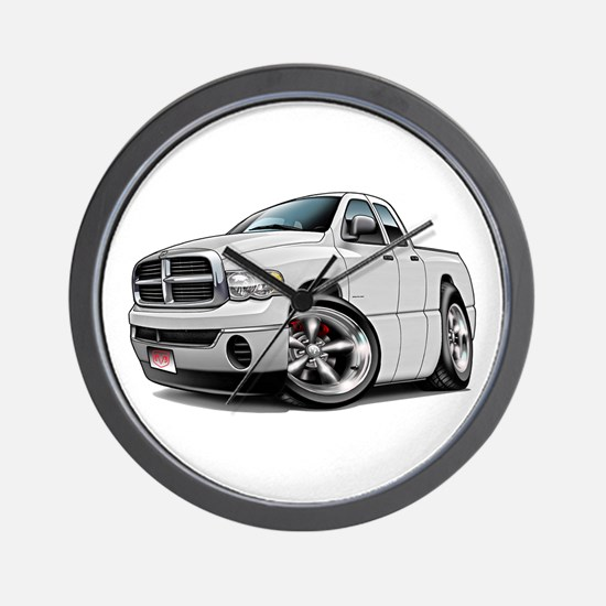 Dodge Ram White Dual Cab Wall Clock