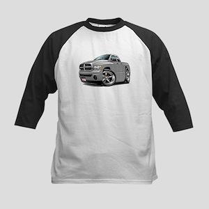Dodge Ram Silver Dual Cab Kids Baseball Jersey